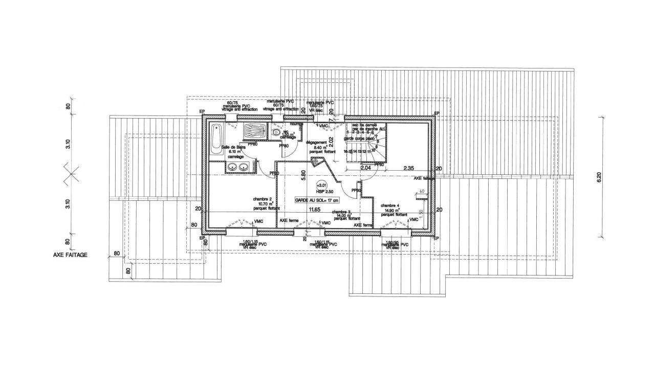 Plan définitif étage