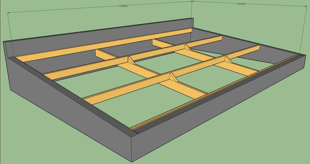 2 Arbalétriers de 100x300 est d'environ 6m + 4 longueurs de panne de 75x225 avec jonction et appui au niveau des échantignioles