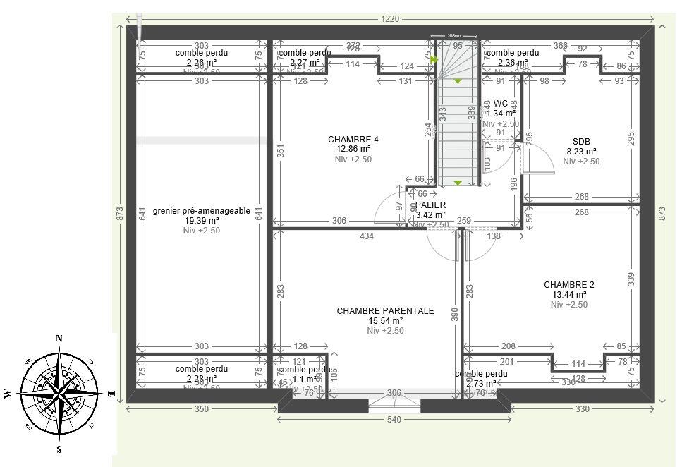 avis plan maison 130m avec combles r hauss 13 messages. Black Bedroom Furniture Sets. Home Design Ideas