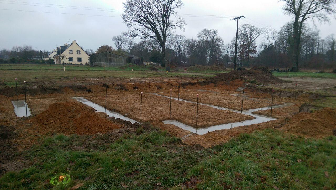 Terrassement + fondations