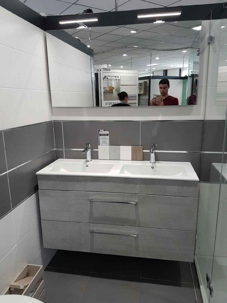 LMCS - Meuble double vasque et miroir
