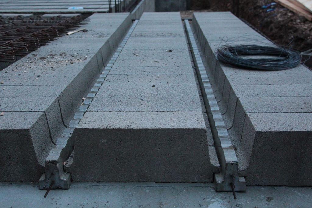 Plancher du rez de chaussée en poutrelles et hourdis