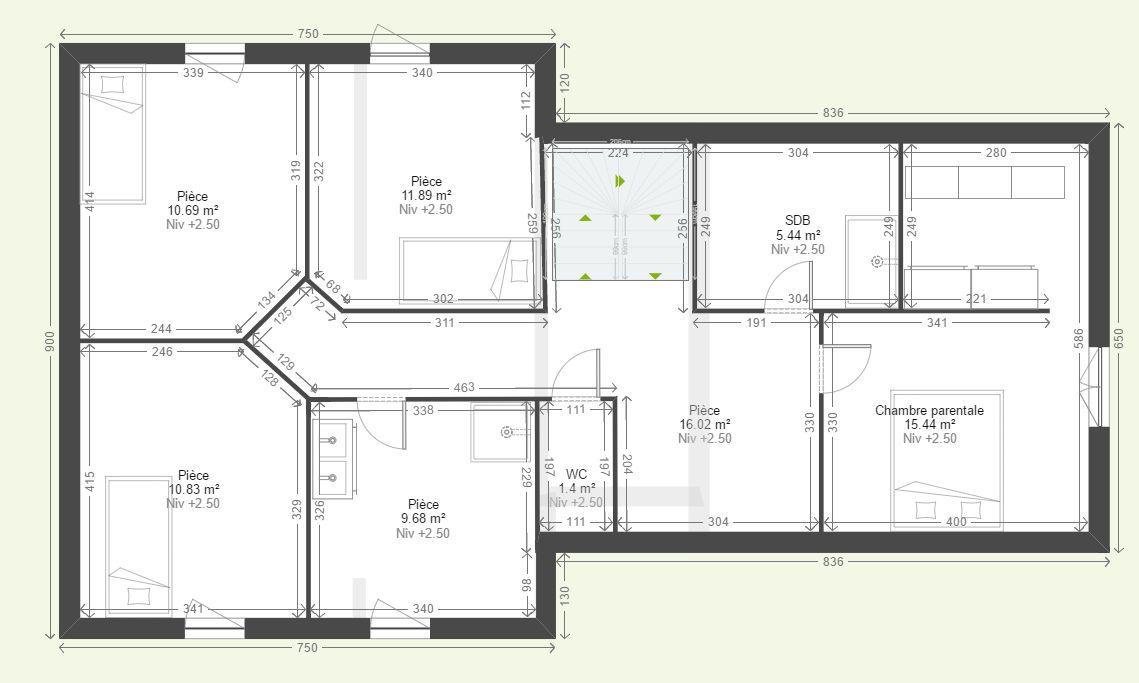 Plan Maison Double Awesome Plan Maison Plain Pied Plan Maison