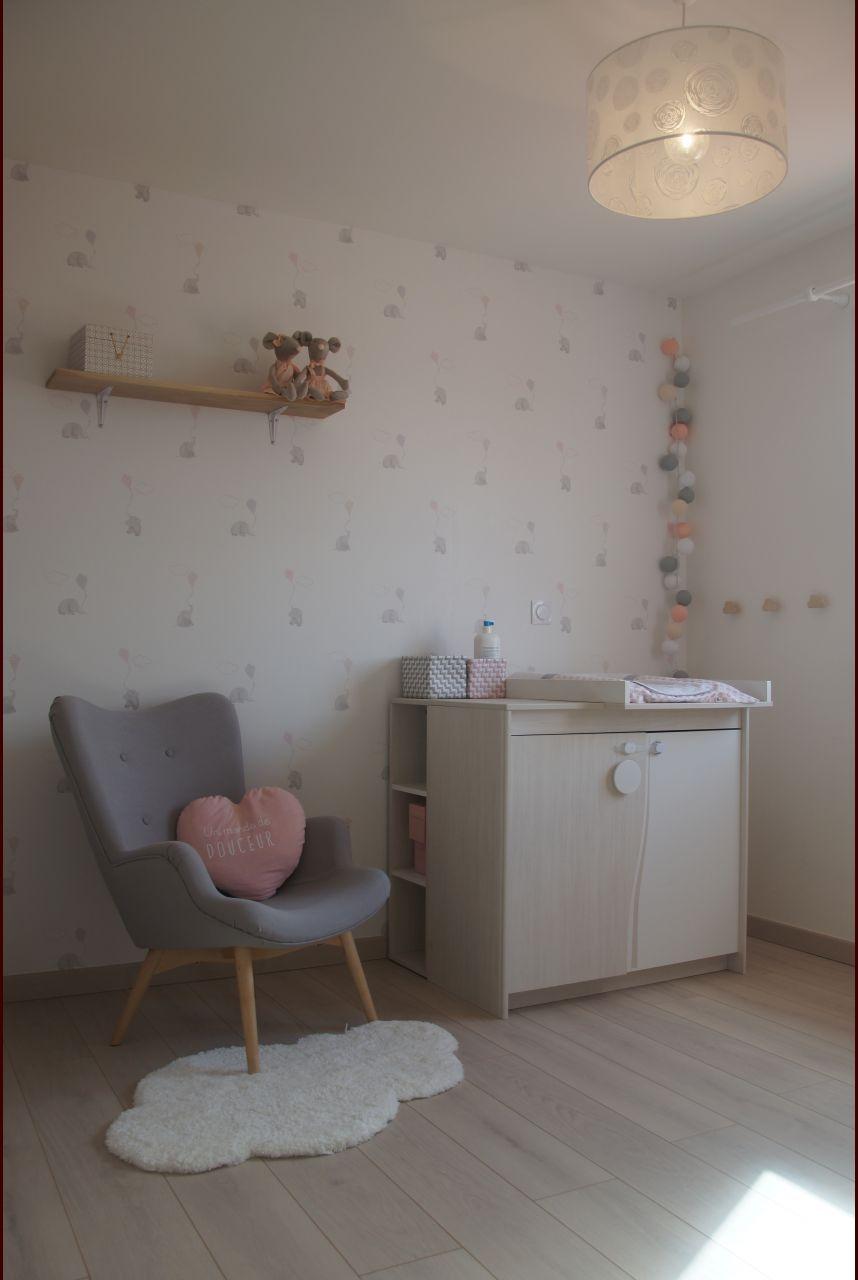 Chambre d'enfant chambre d'enfant mur gris - Puy De Dome (63) - mars 2017