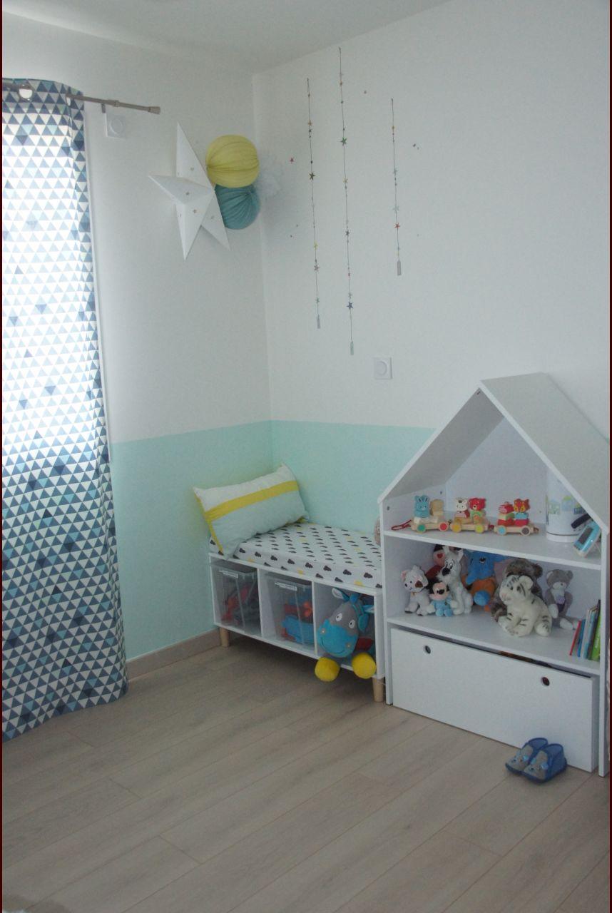 Chambre d'enfant chambre d'enfant mur jaune - Puy De Dome (63) - mars 2017