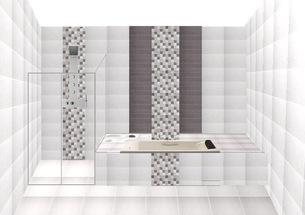Salle de bain du rez de chaussée (côté baignoire et douche)