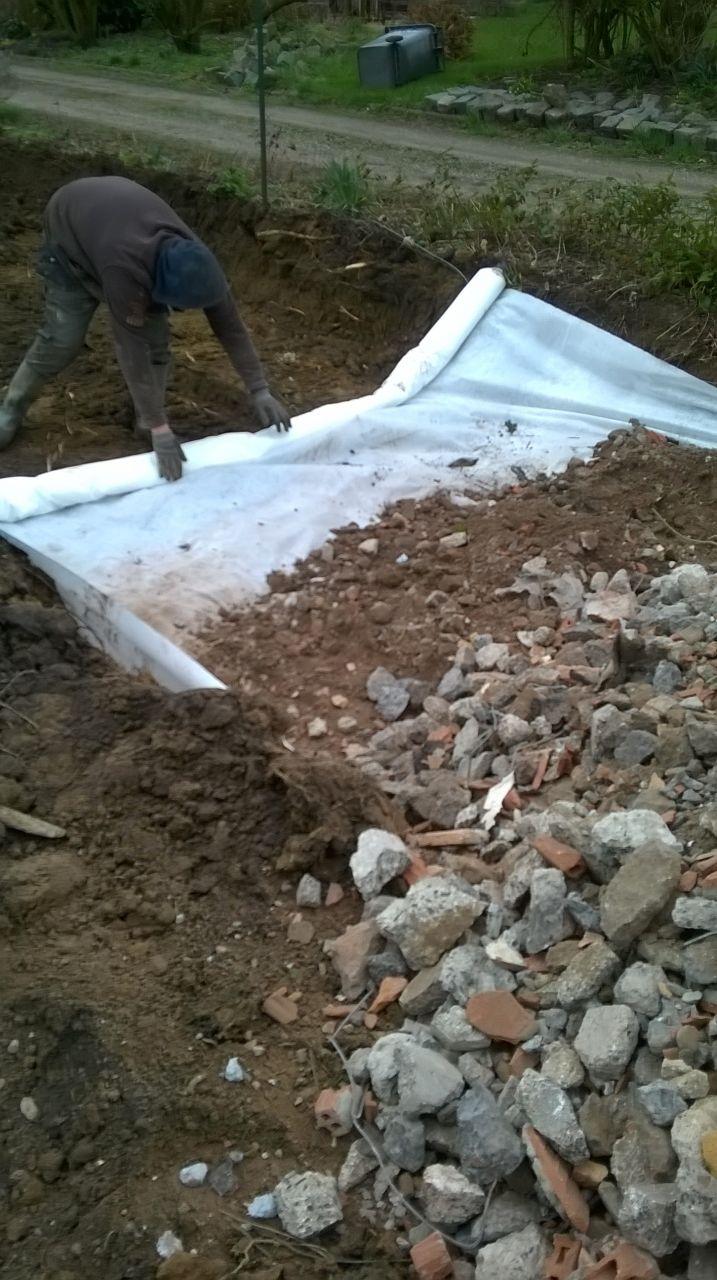 début de l'accès chantier