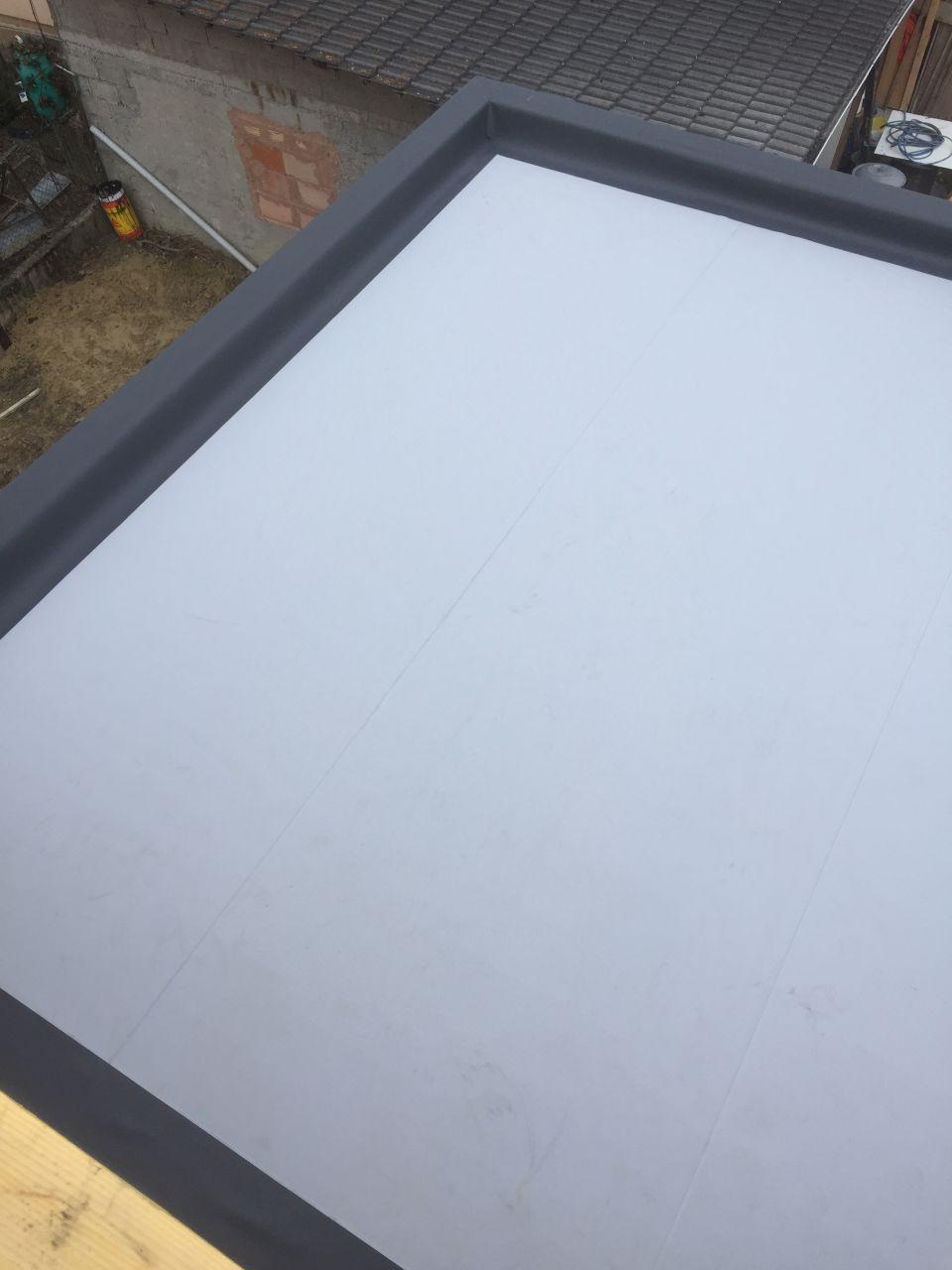 Membrane d'etancheité sur toit garage
