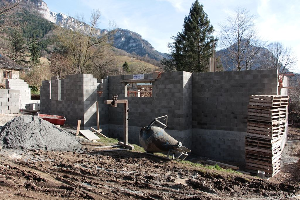 Élévation des murs, coté nord