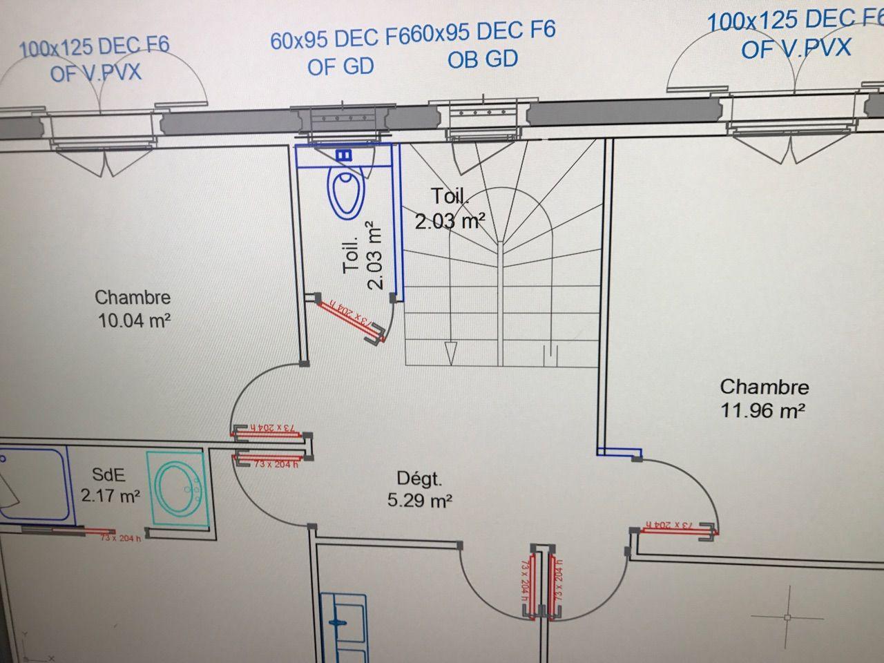 Nouvelle proposition de répartition de l'étage