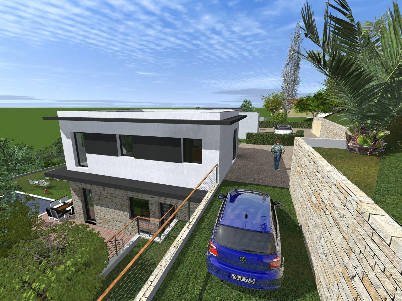 Vue 3D parking R+1