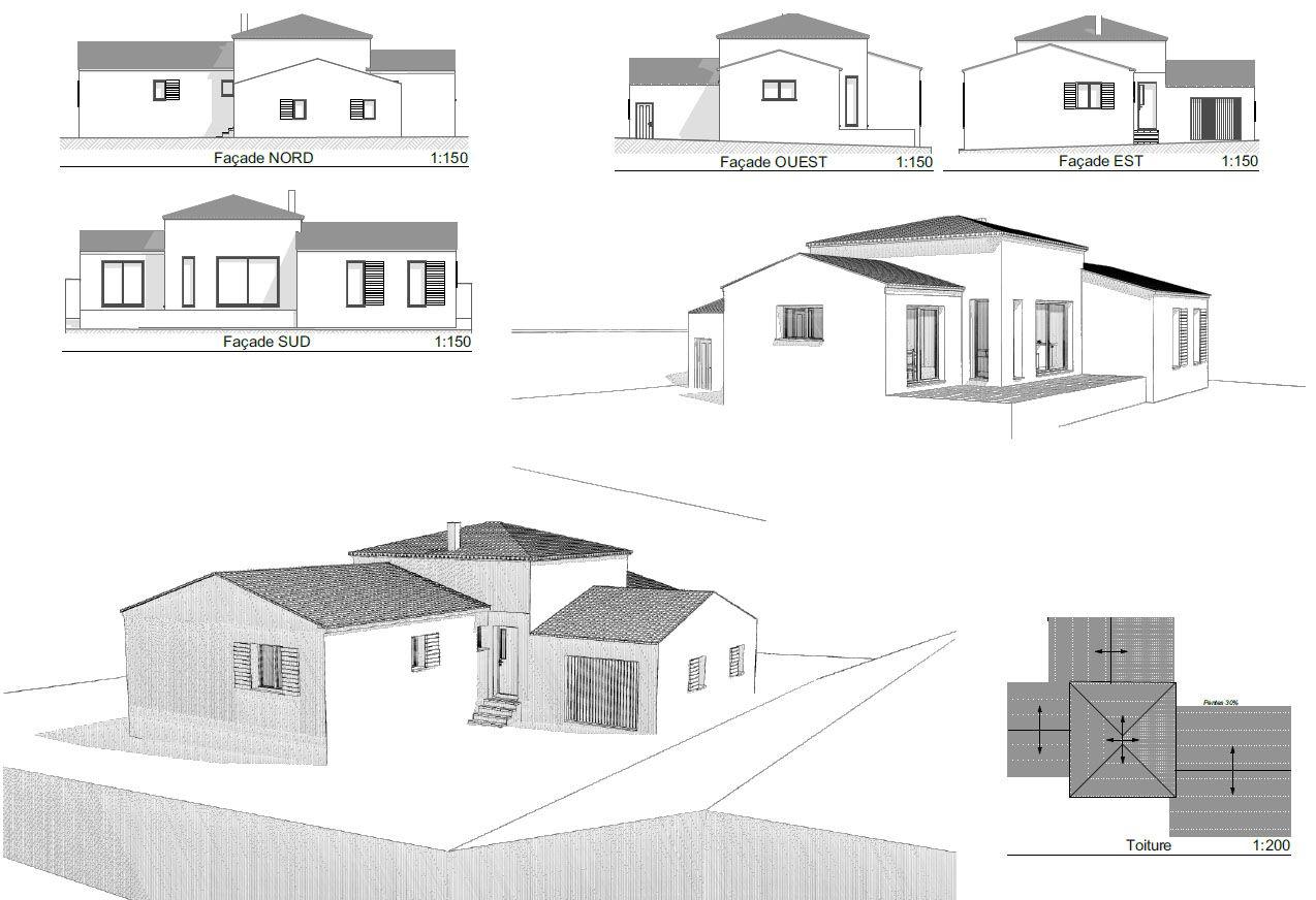 Version 3d de la maison