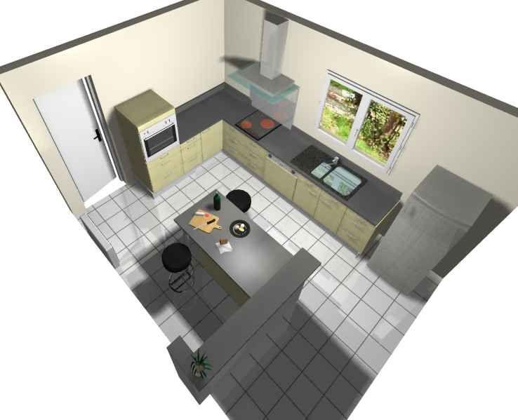 Avis sur le plan de notre future cuisine 342 messages for Simulation implantation cuisine