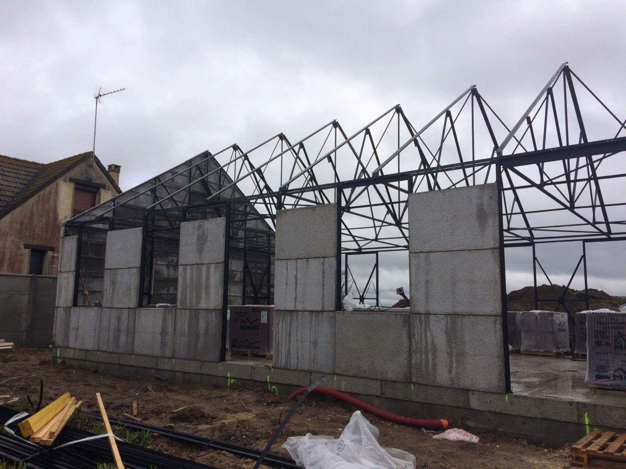 Construction ossature métallique - Eure Et Loir (28) - mars 2017