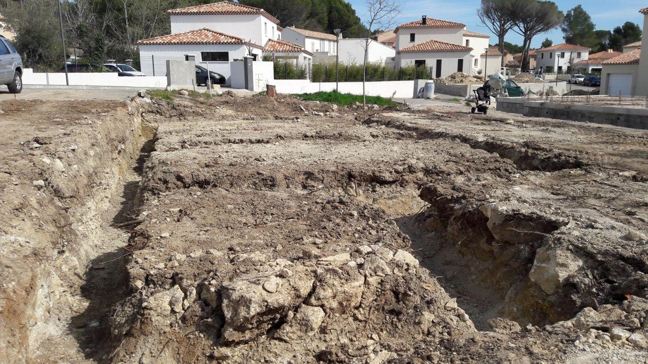 Les fondations creusées, étape terminée