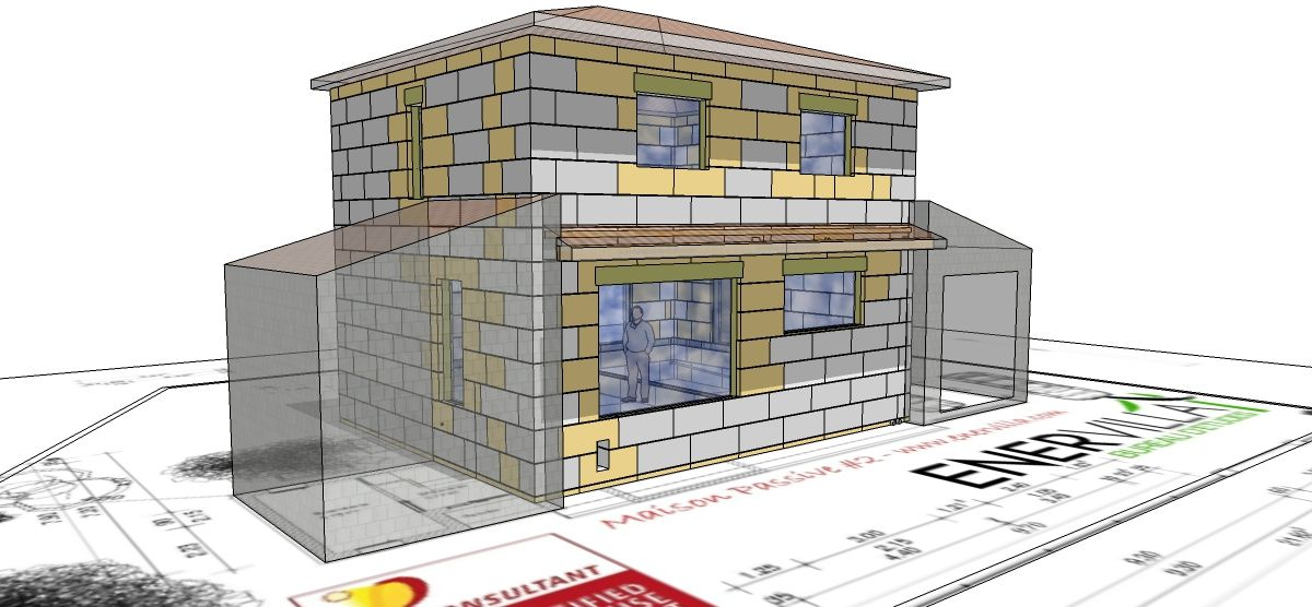 Démarche BIM : modélisation numérique du chantier et calepinage coffrage isolant  (sketchup)