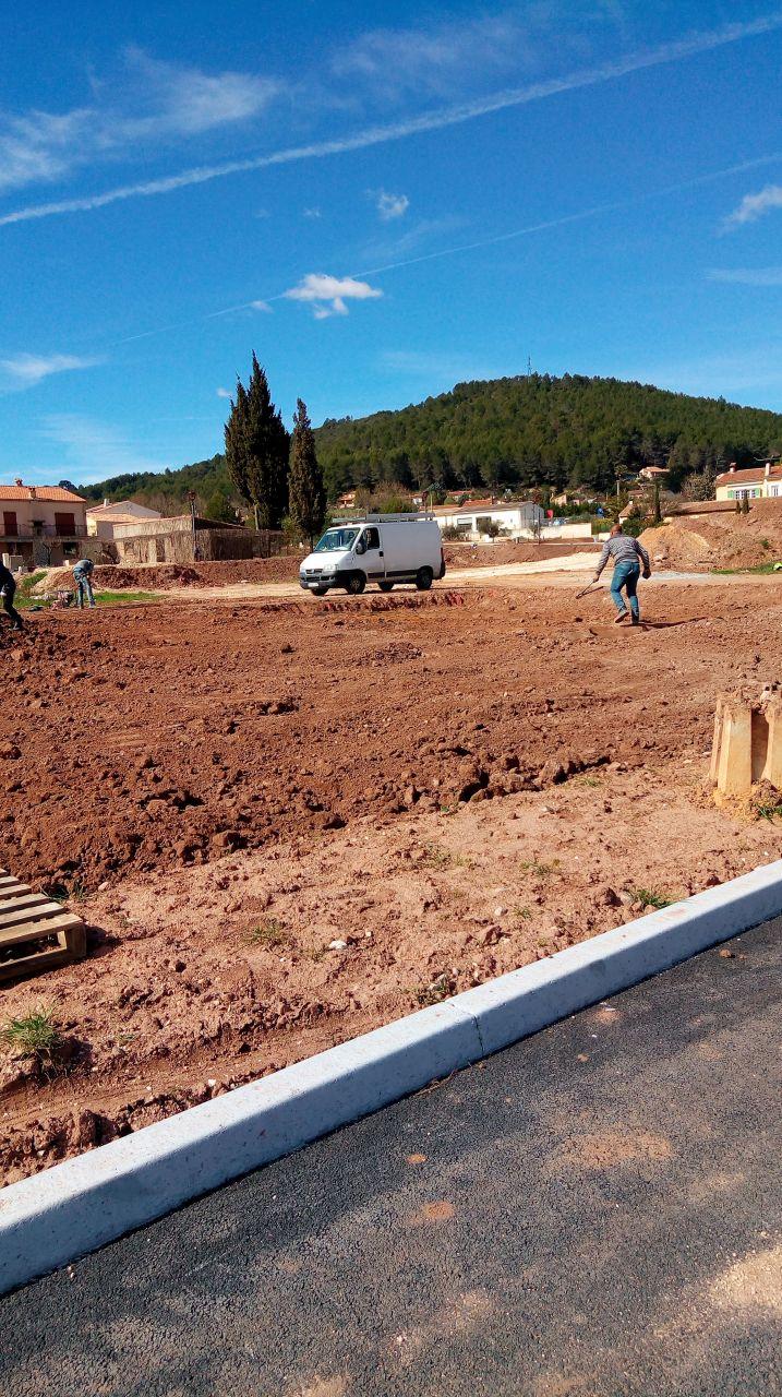 Photo terrassement vue depuis la voirie