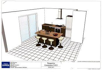 Les plans de notre future cuisine, sélectionnée chez Ixina.
