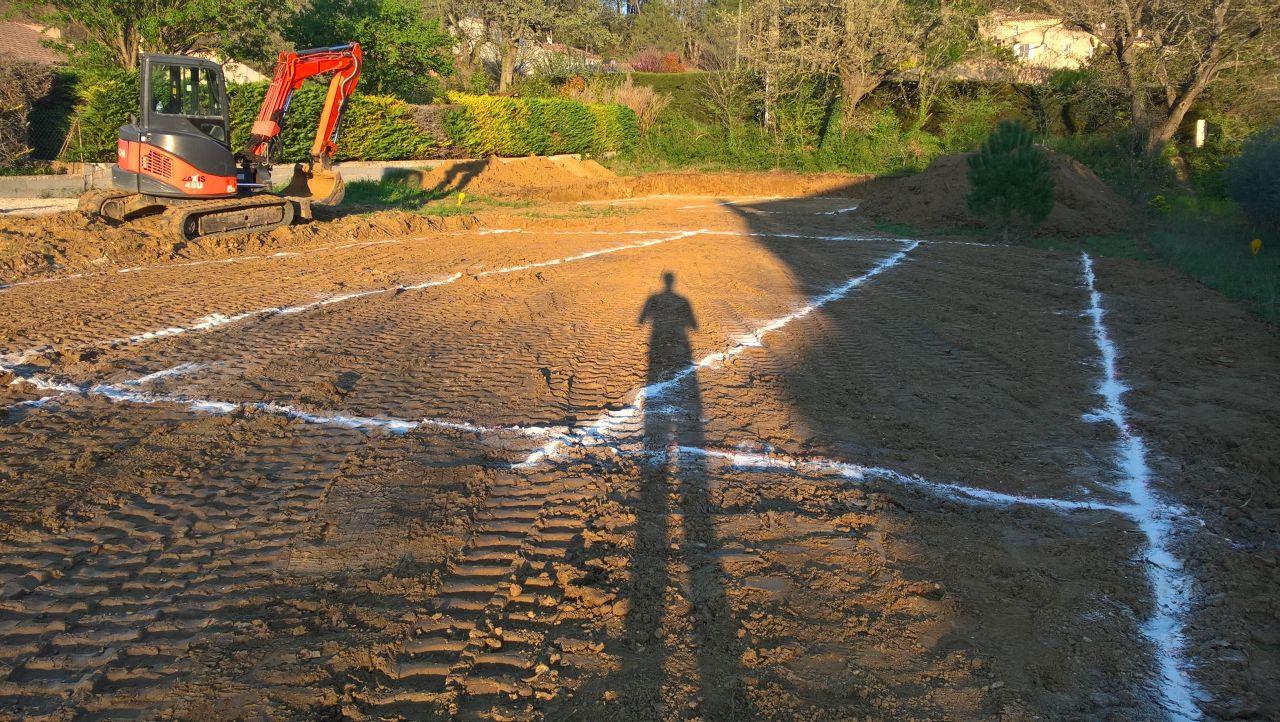 Délimitation de la zone à construire
