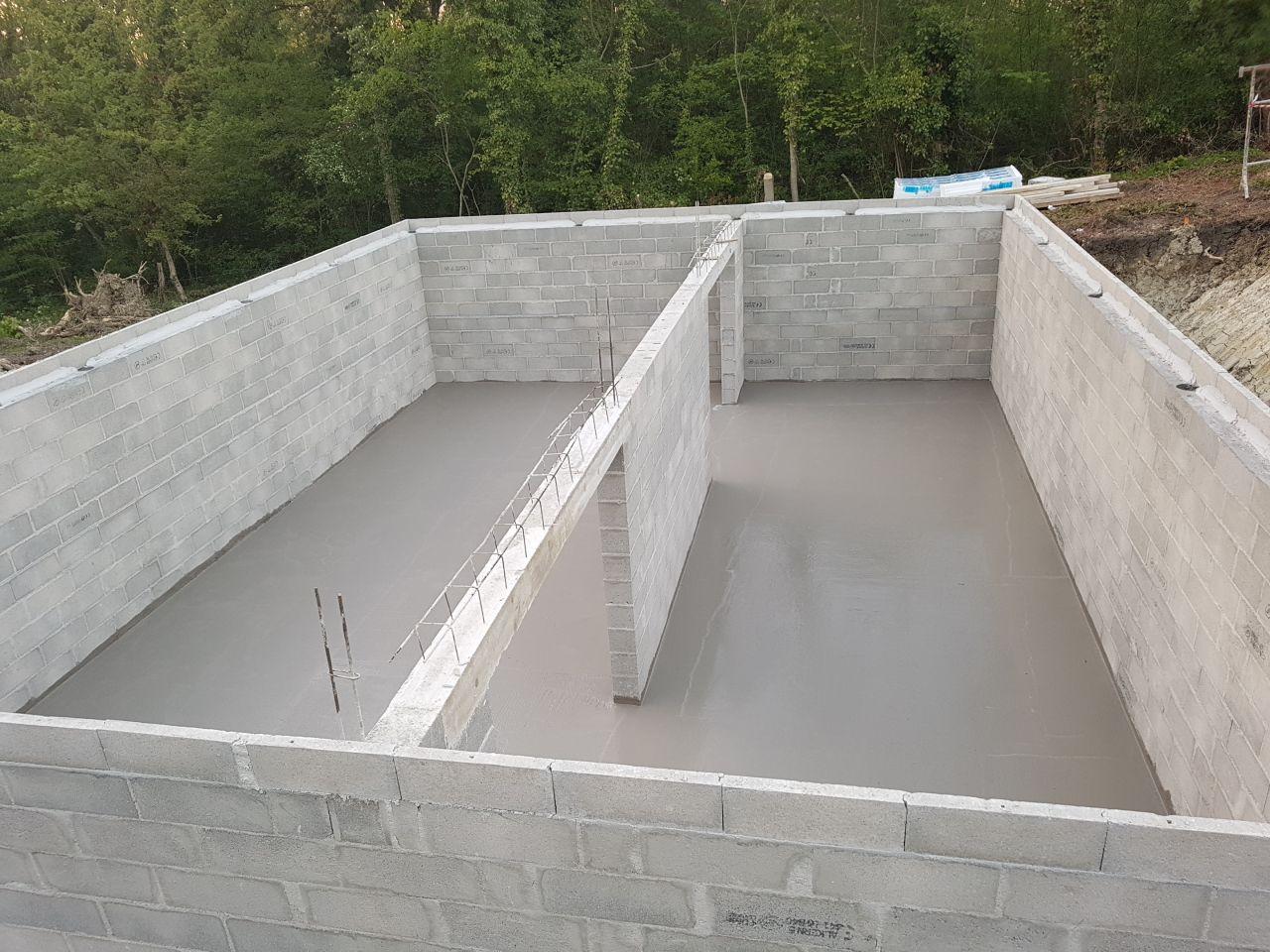 Photo dalle sous sol coul e fondations vide sanitaire for Dalle vide sanitaire