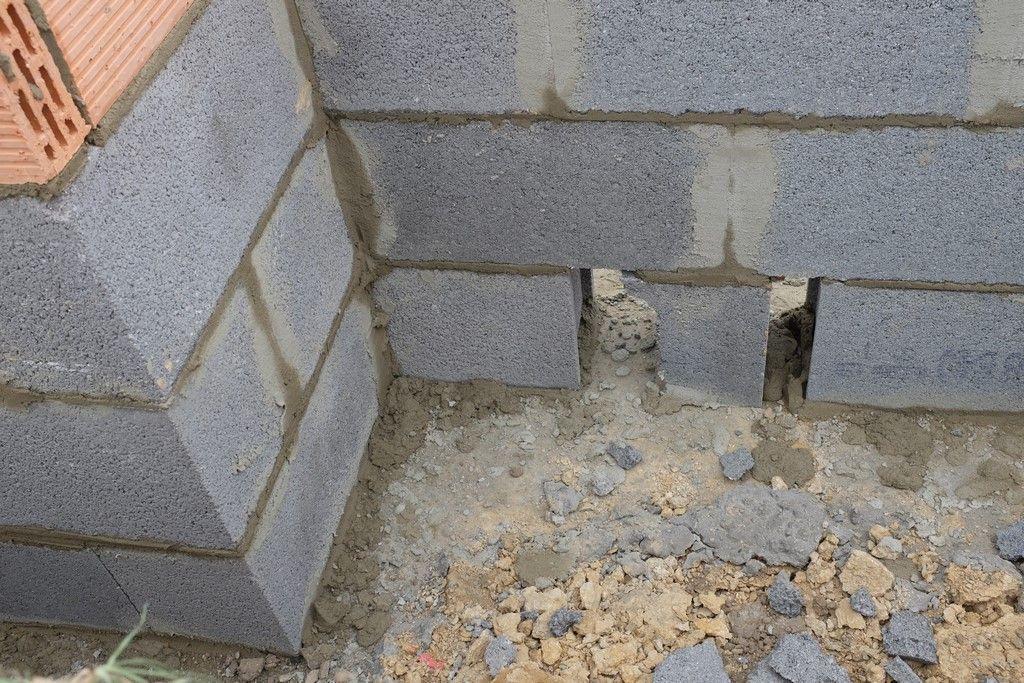 VS façade, détail futur passage fourreaux