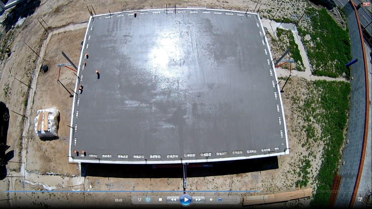 Plancher UP19 coulé vue de Drone