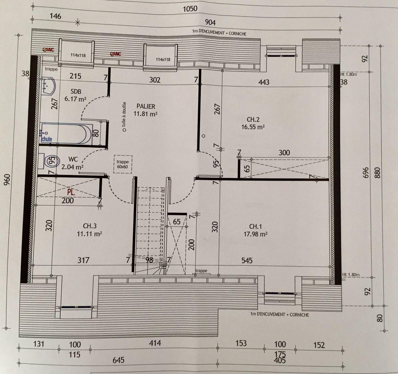 Plan étage de notre Cadence 3.126 GI
