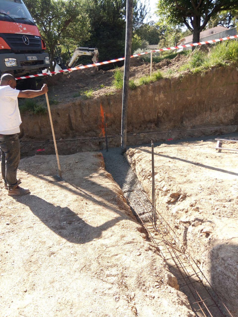 toupie - pompe à béton - fondation coulée