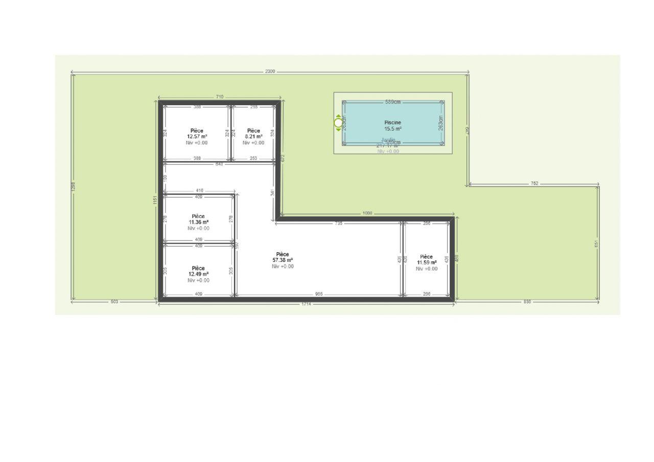 Perfect plan avec piscine cot with plan maison avec cote for Plan de maison cote