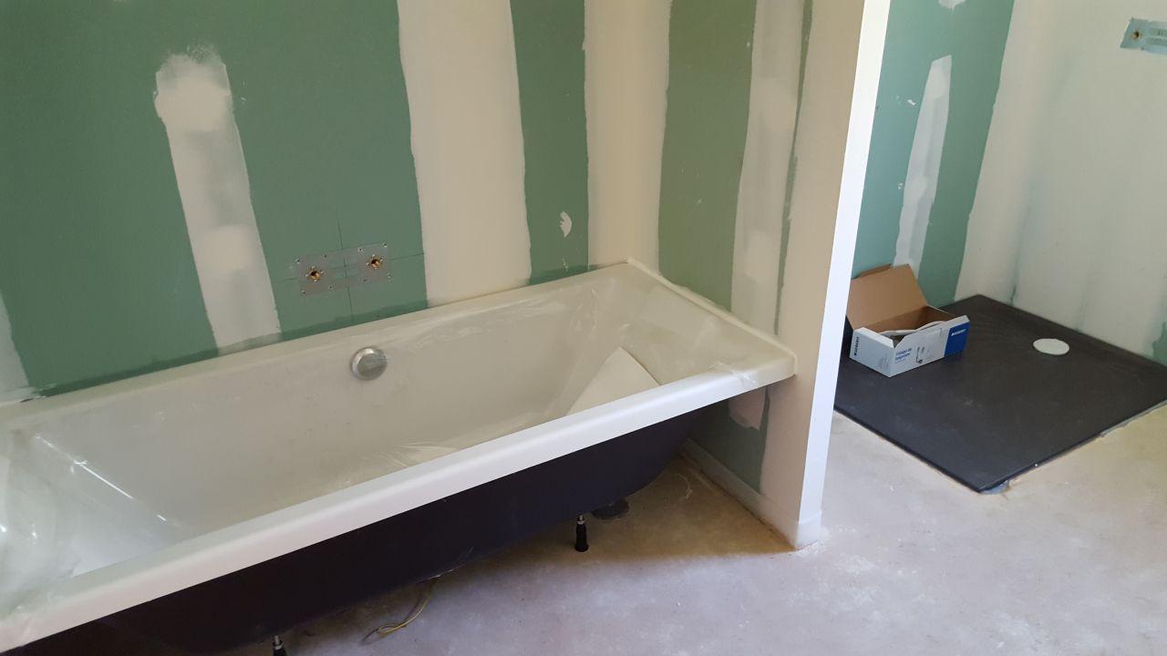 Photo baignoire et receveur de douche install s Receveur baignoire