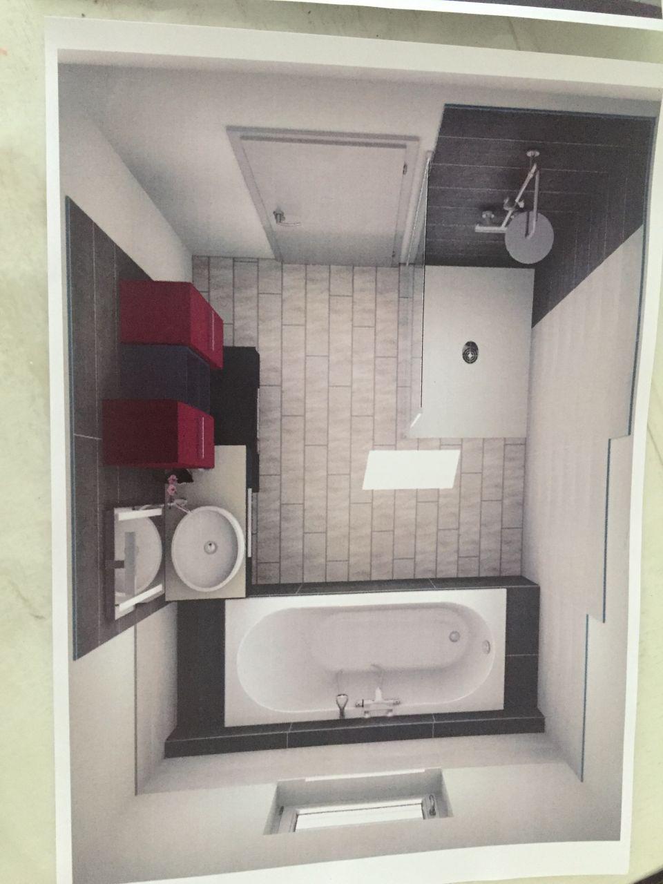 Photo plan de notre futur salle de bain carrelage for Salle de bain du futur