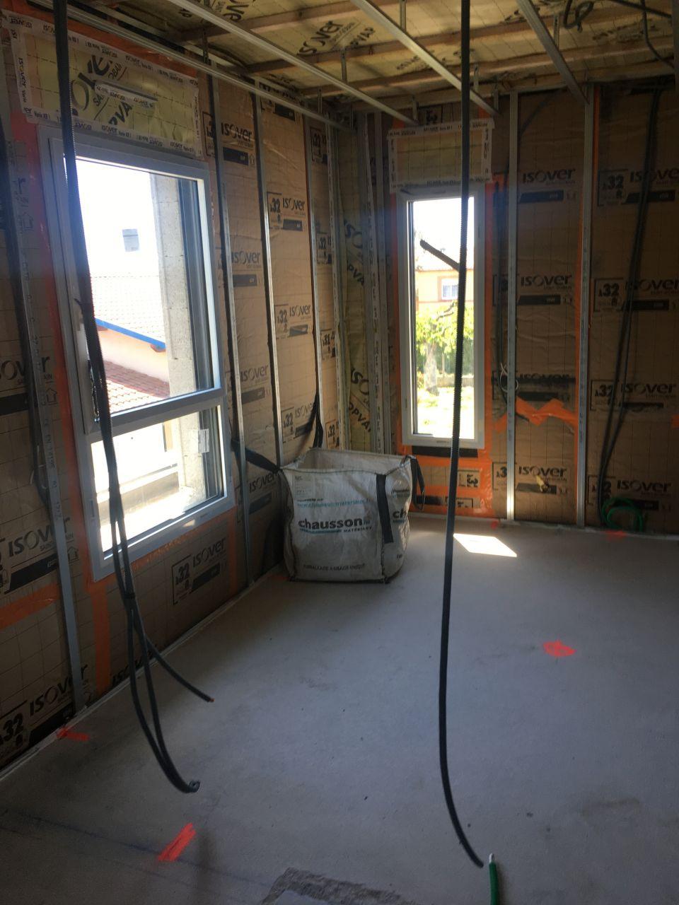 passage des gaines à l'etage