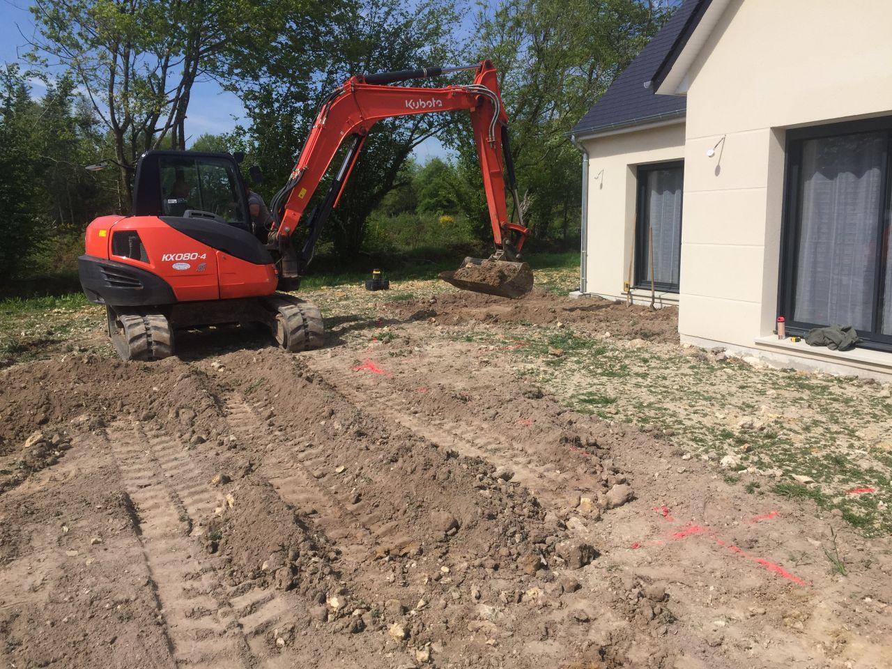 Préparation future terrasse.