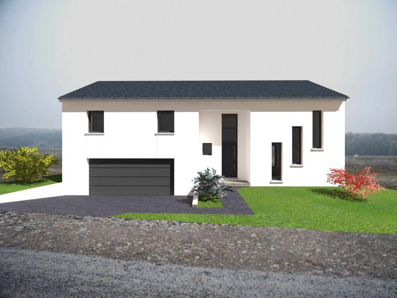 Photo voici une vue d gager de notre projet plan de for Plans de maison construits pour une vue