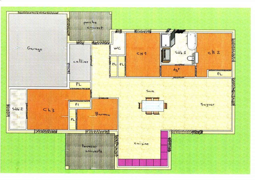 Votre avis svp sur mon plan pp de 140m2 hab 47 messages for Plan maison moderne 140m2