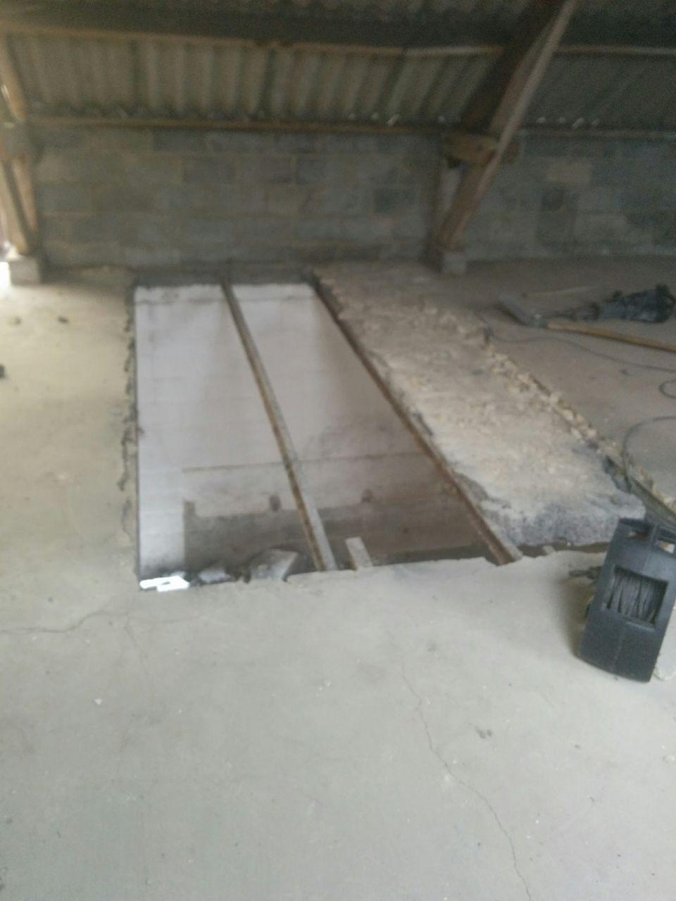 Création d'une ouverture pour passage escalier + mezzanine