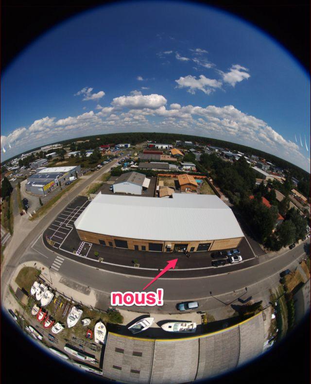 Héhé ! Vue depuis un drone parrot bebop 2 !
