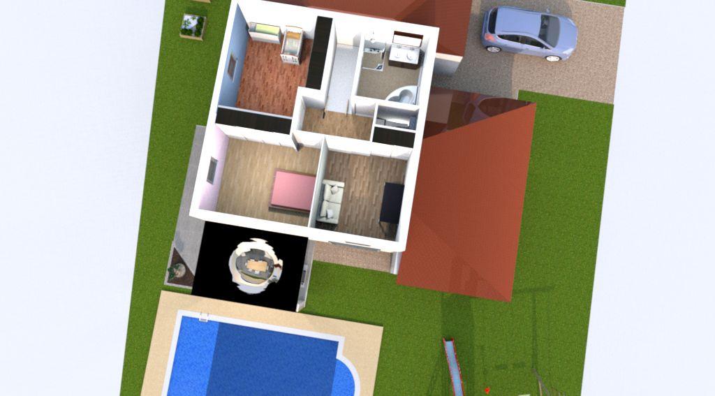Plan 3D: étage