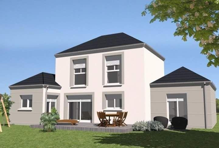 Vue 3D de la facade jardin