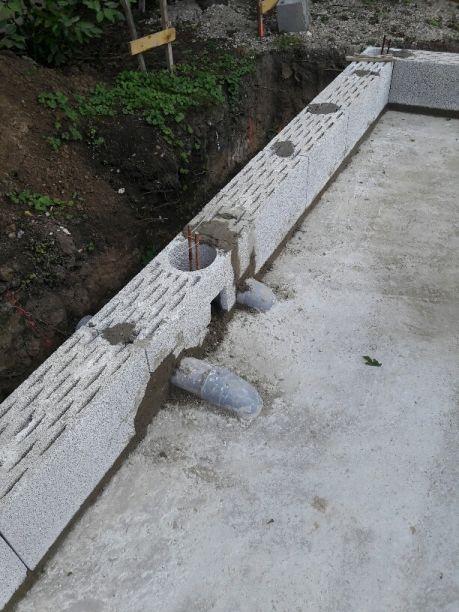 Elevation des murs Rdc - Jour 1