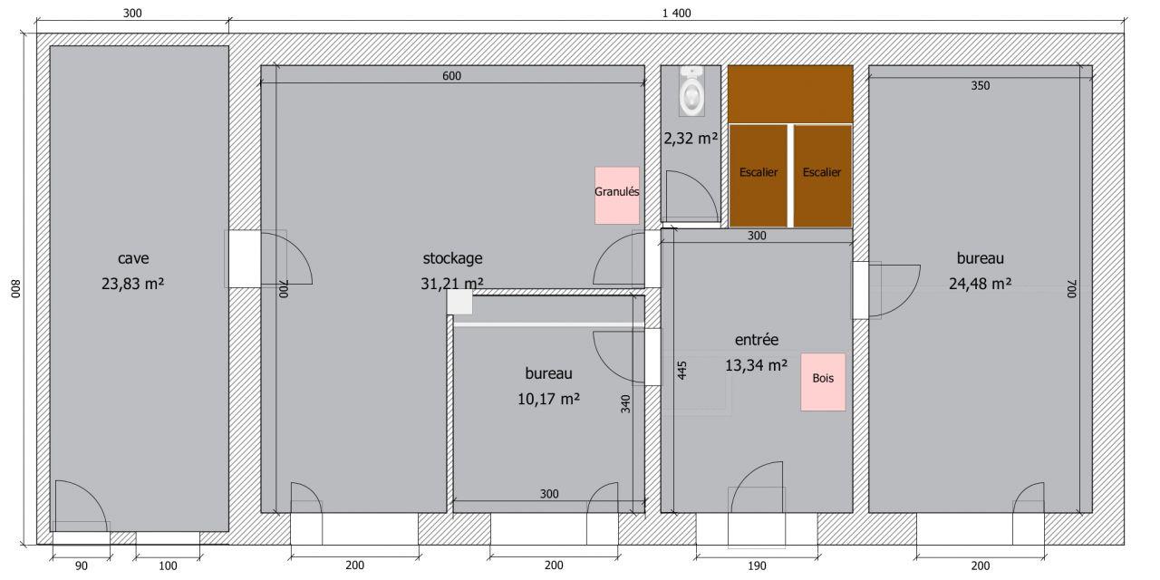 plan v1 - RdC avec cotes