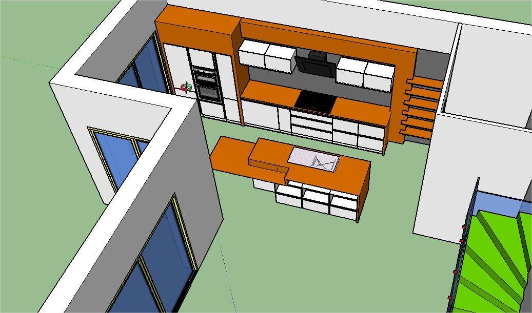 Modèle cuisine 3D Sketchup 1