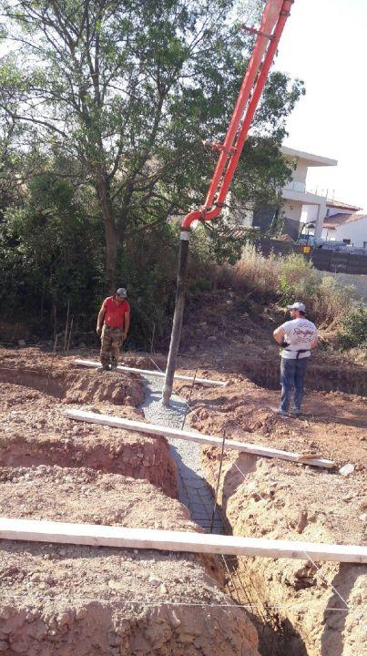 Début béton fondations
