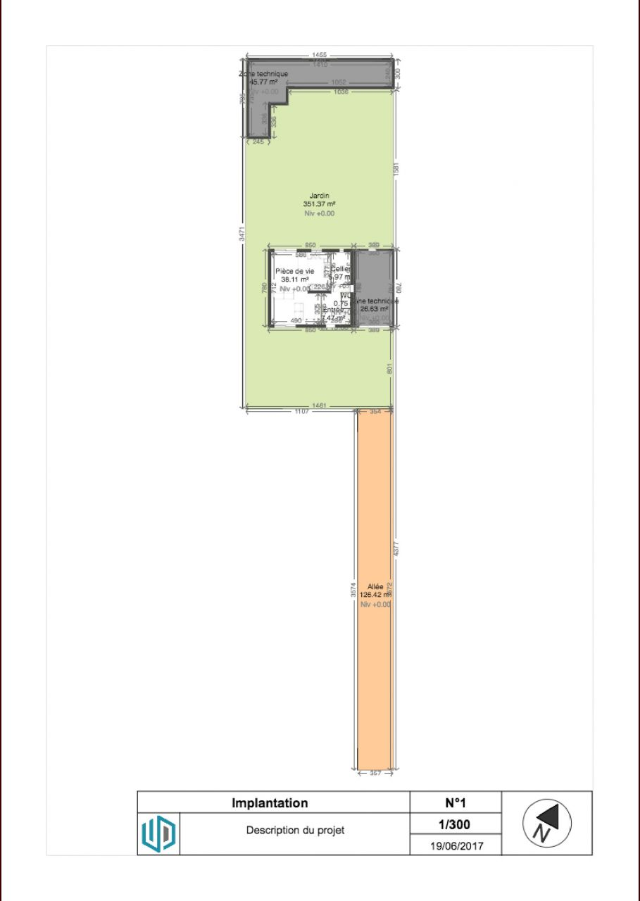 Free Plans With Plan Maison R 1 100m2