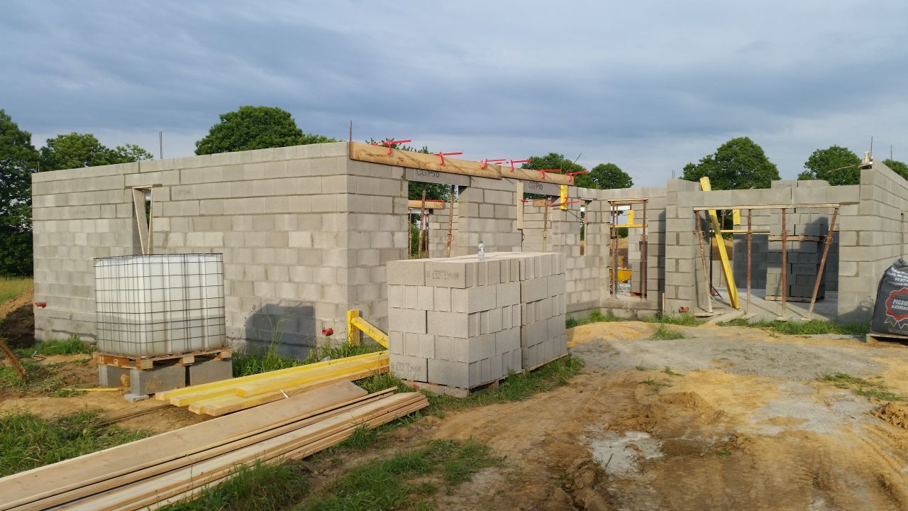 murs + Coulage des linteaux