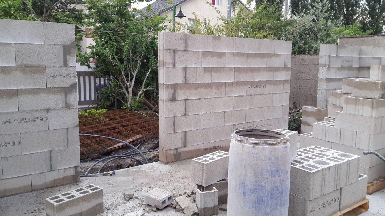 élévations des murs