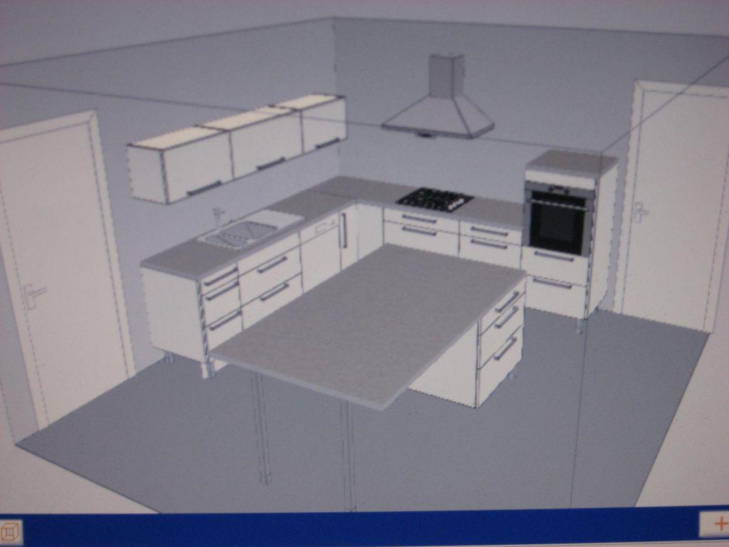 Avis sur projet implantation cuisine abstrack blanche 23 messages - Construire cuisine ...