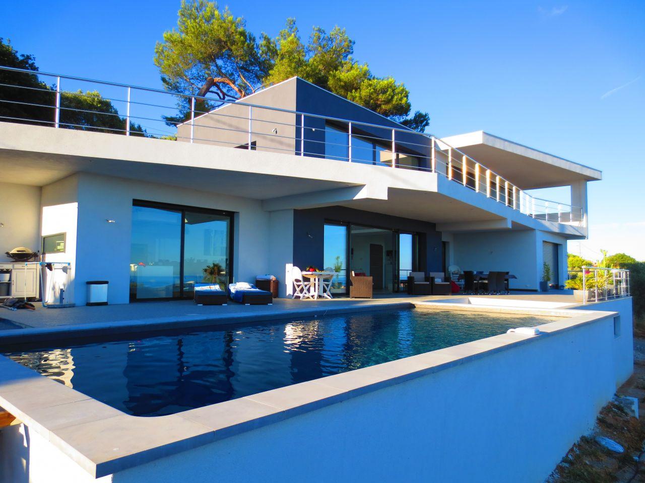 Façade Sud avec piscine