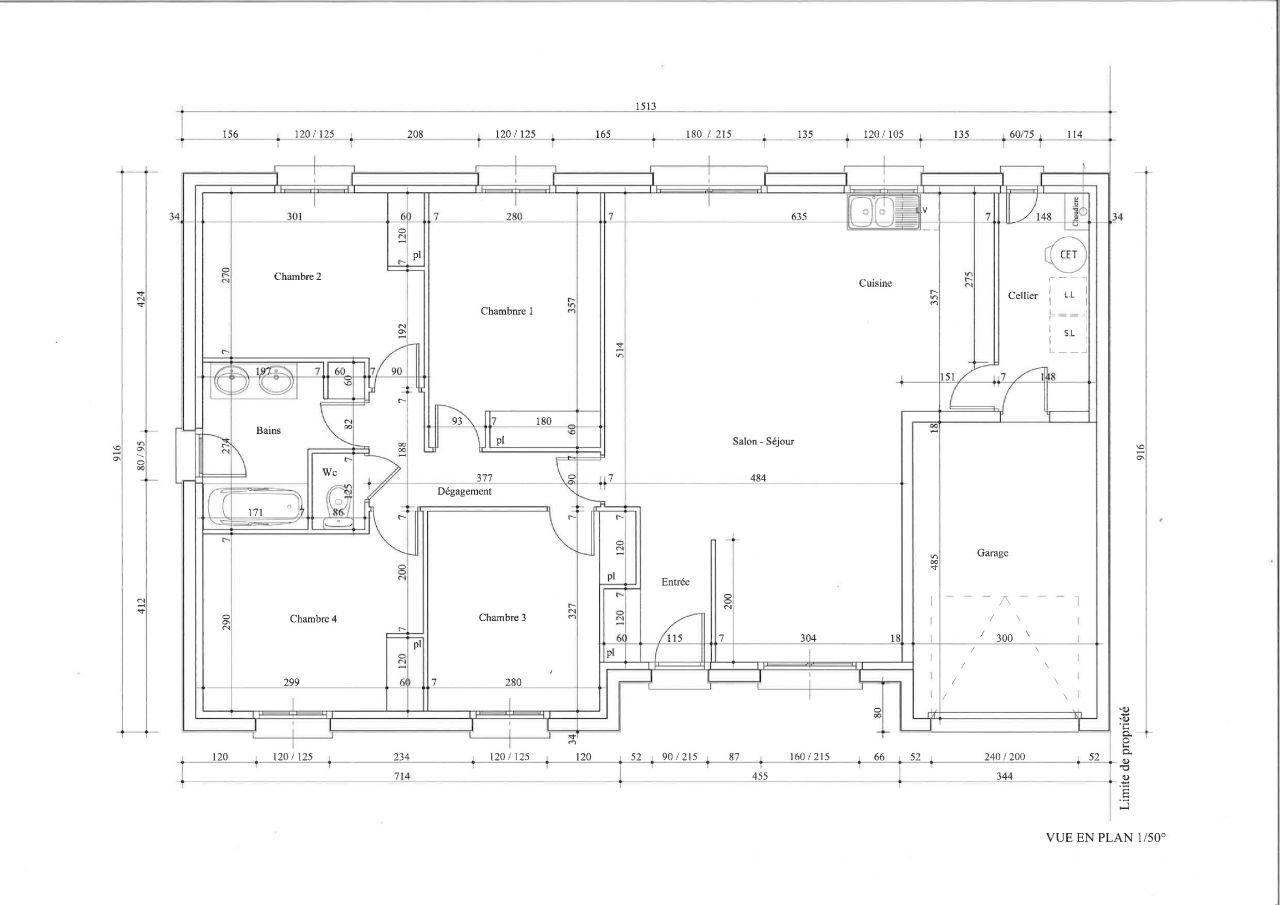 Plan de notre projet de construction