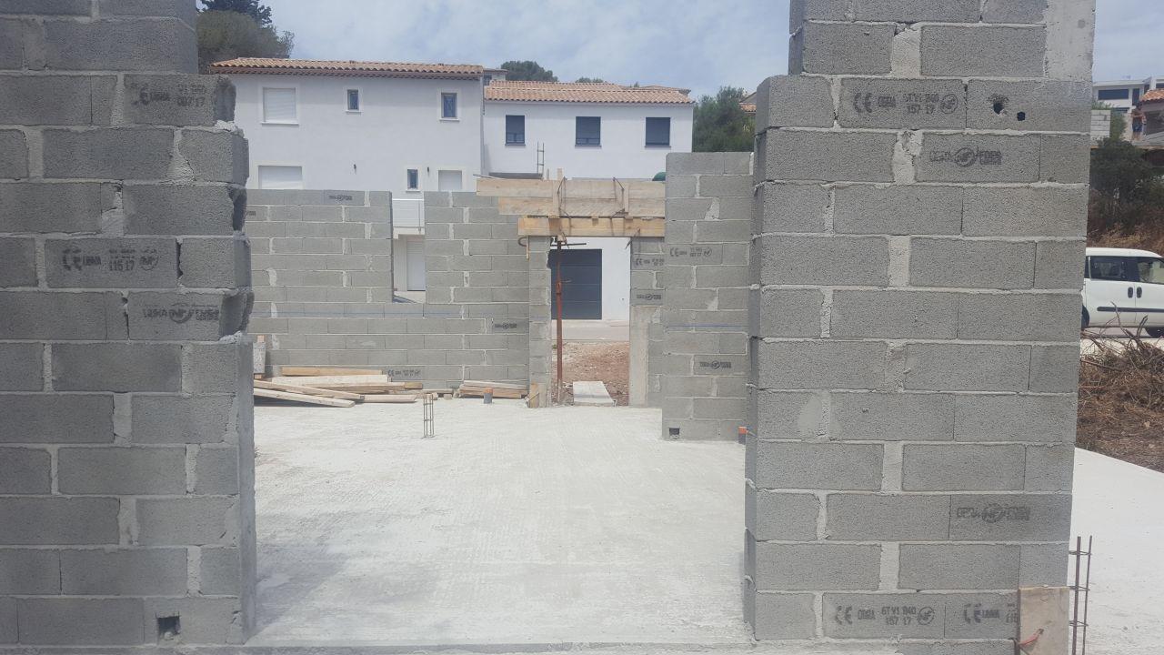 vu de la terrasse, emplacement baie cuisine